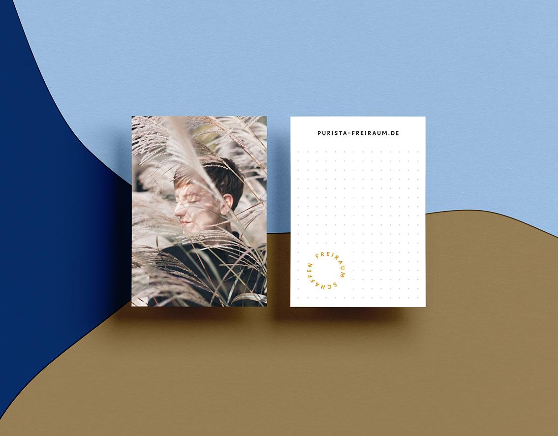 Grafikdesign Purista Notiz Karten