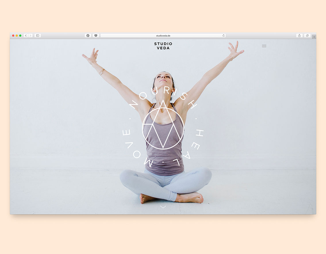 Studio Veda Lifestyle Studio Website Design