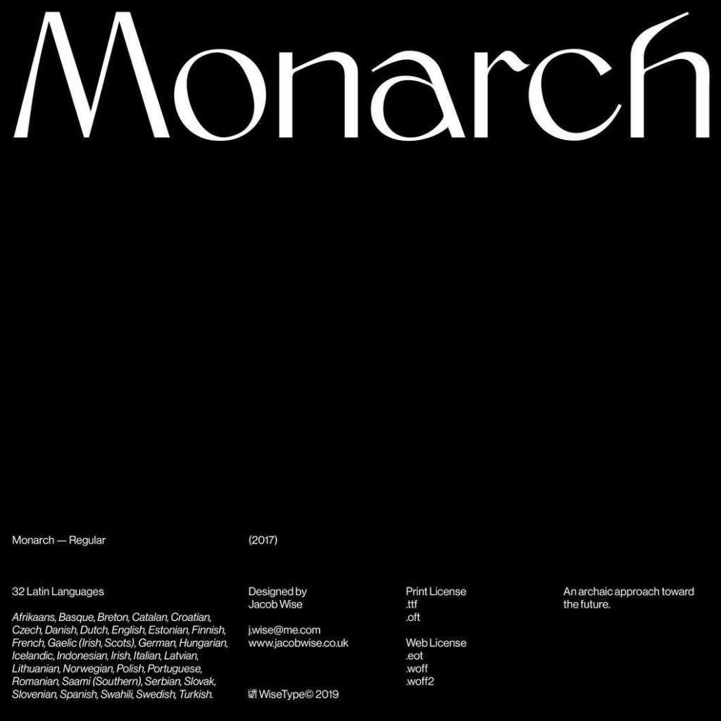 Monarch by Jacob Wise – Schriften für Wellness und Lifestyle Brands