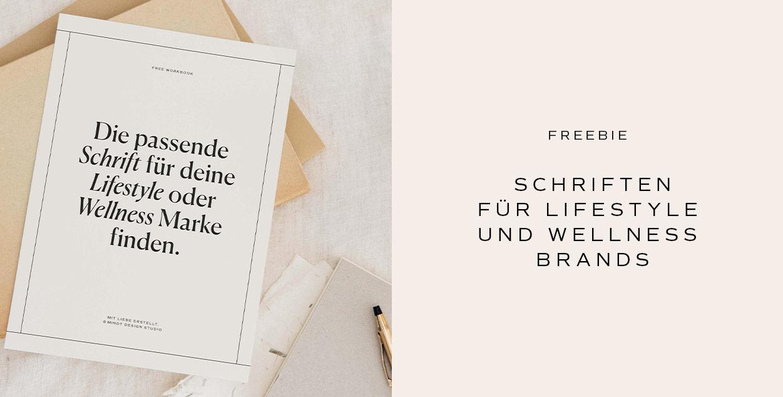 Schriften für Lifestyle oder Wellness Brands Freebie