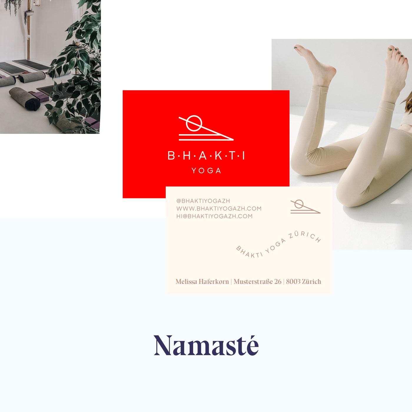 Bhakti Yoga Brand Identity + Business Card by Mindt