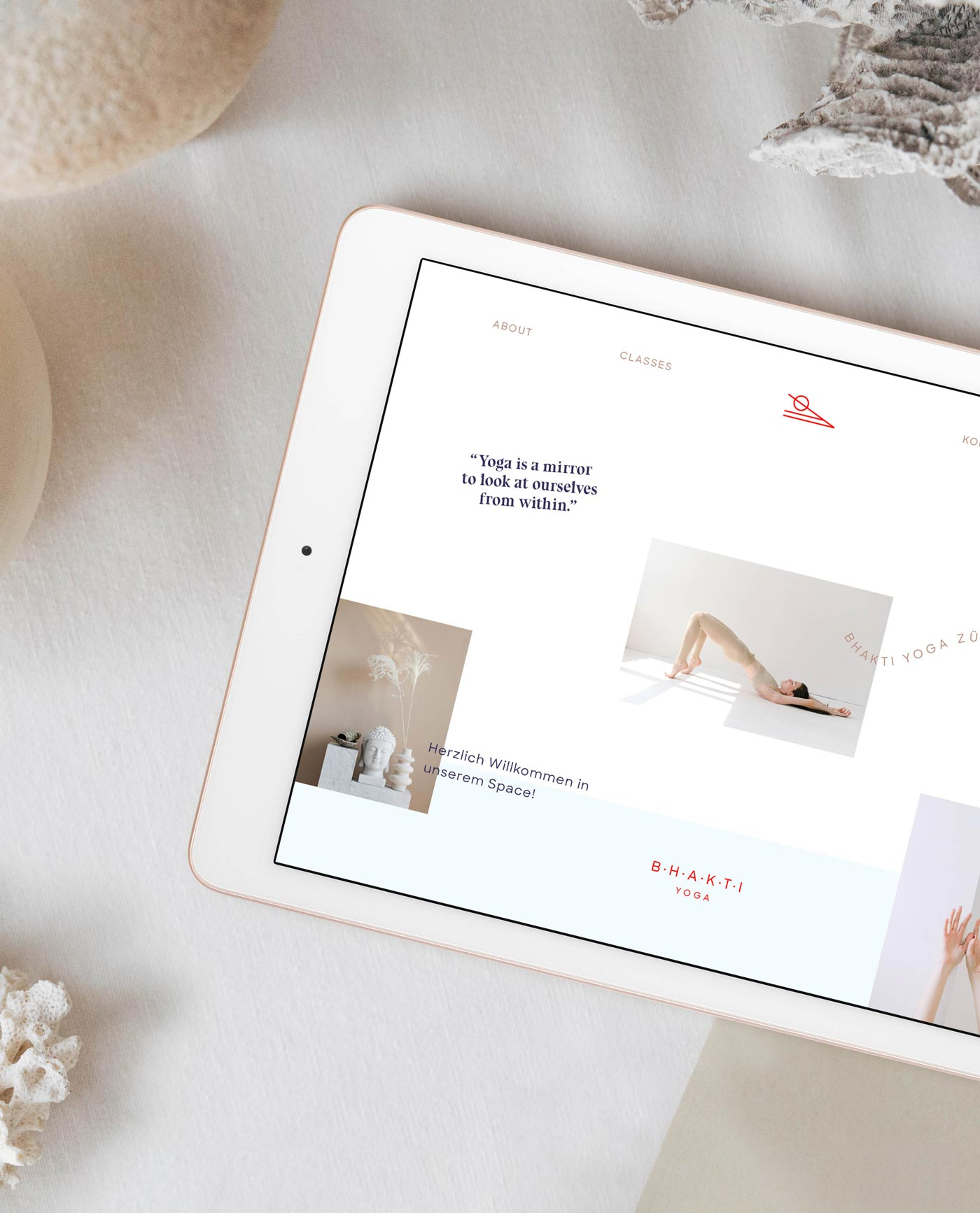 Bhakti Yoga Website   Web Design by Mindt