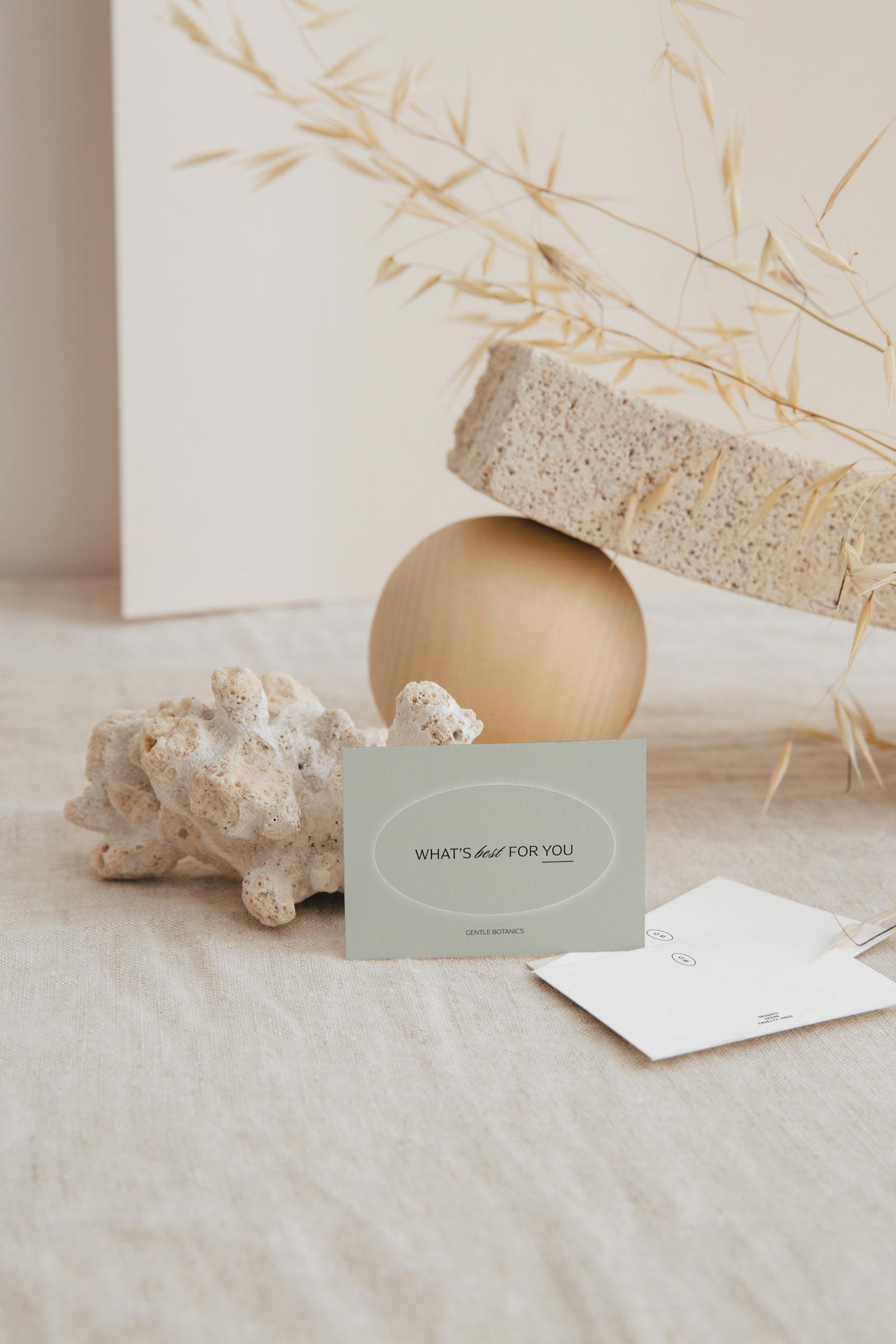 Gentle Botanics Ready-Made Skincare Brand Kit – Print Design
