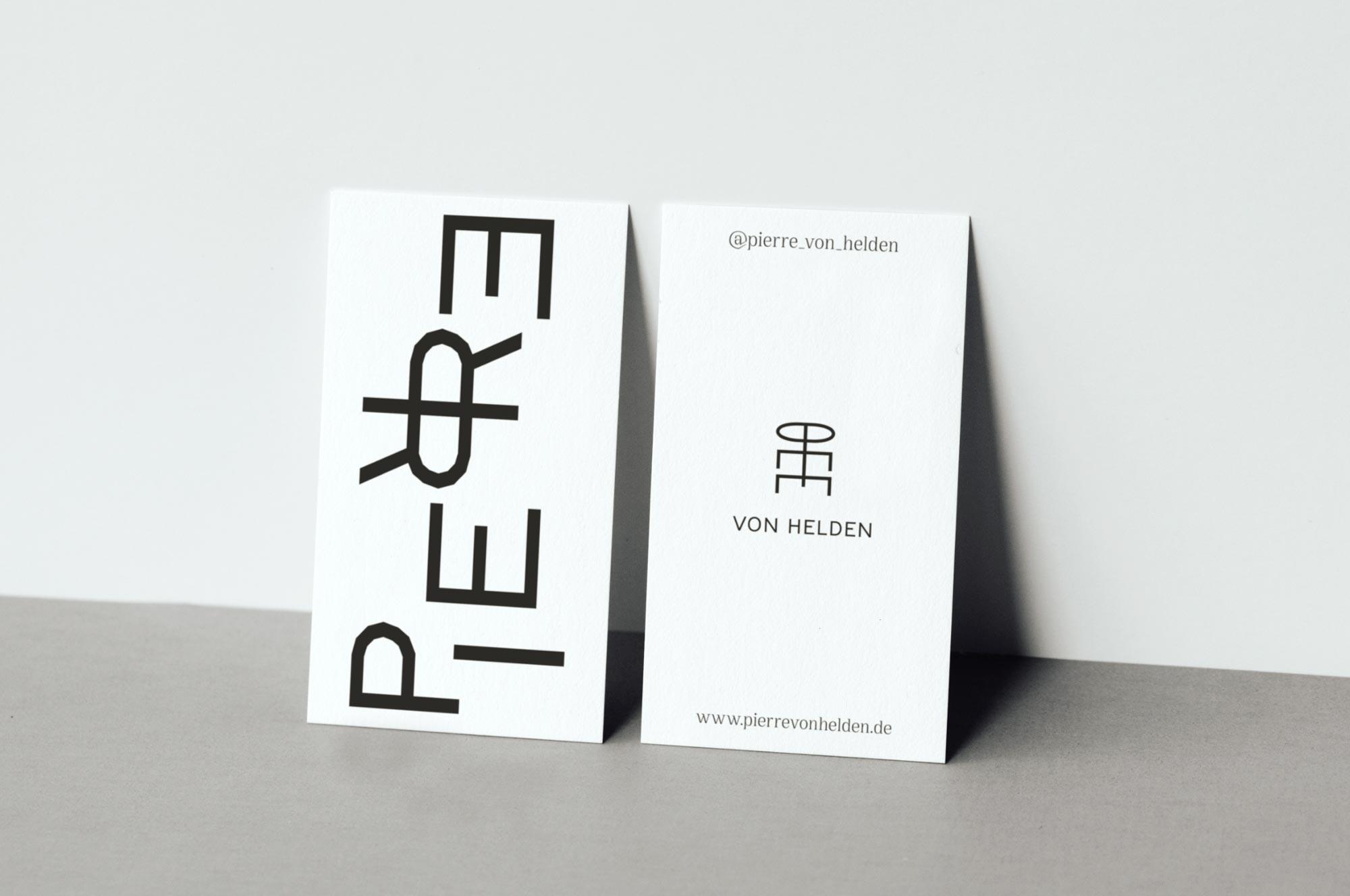 Pierre von Helden Artist Brand Identity – Business Cards (Visitenkarten)