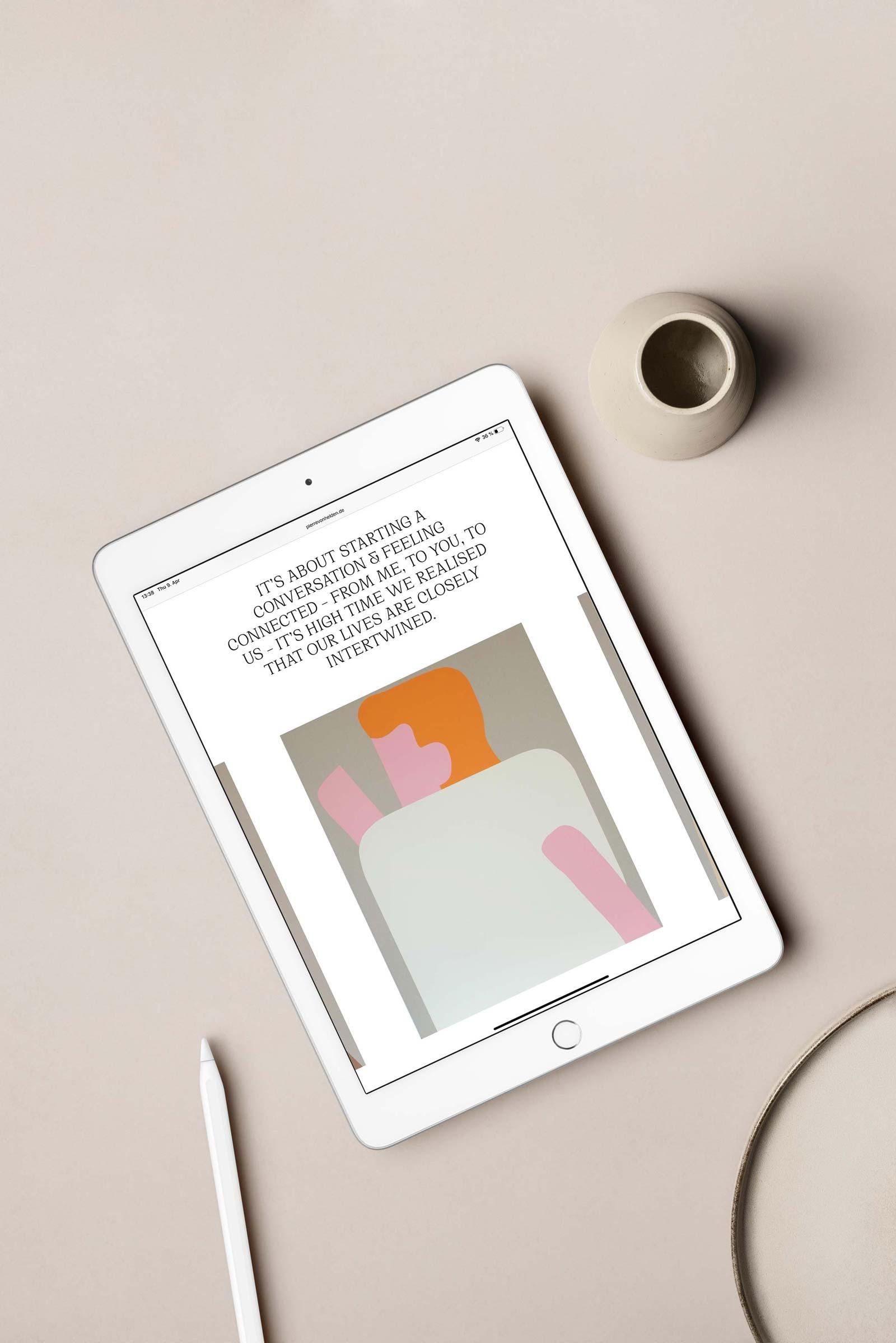 Pierre von Helden Artist Branding – Responsive Web Design