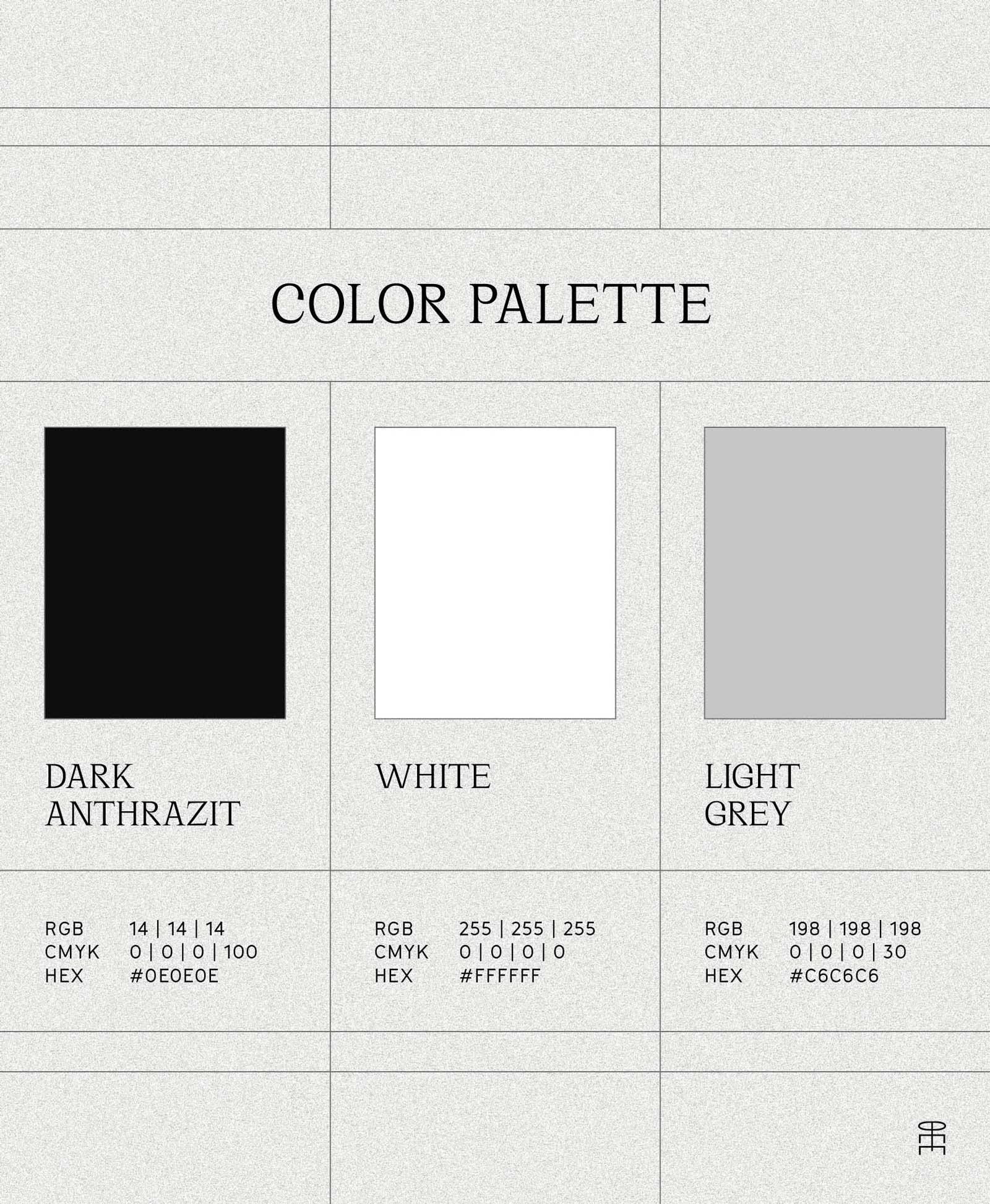 Pierre von Helden Artist Brand Identity – Farbpalette