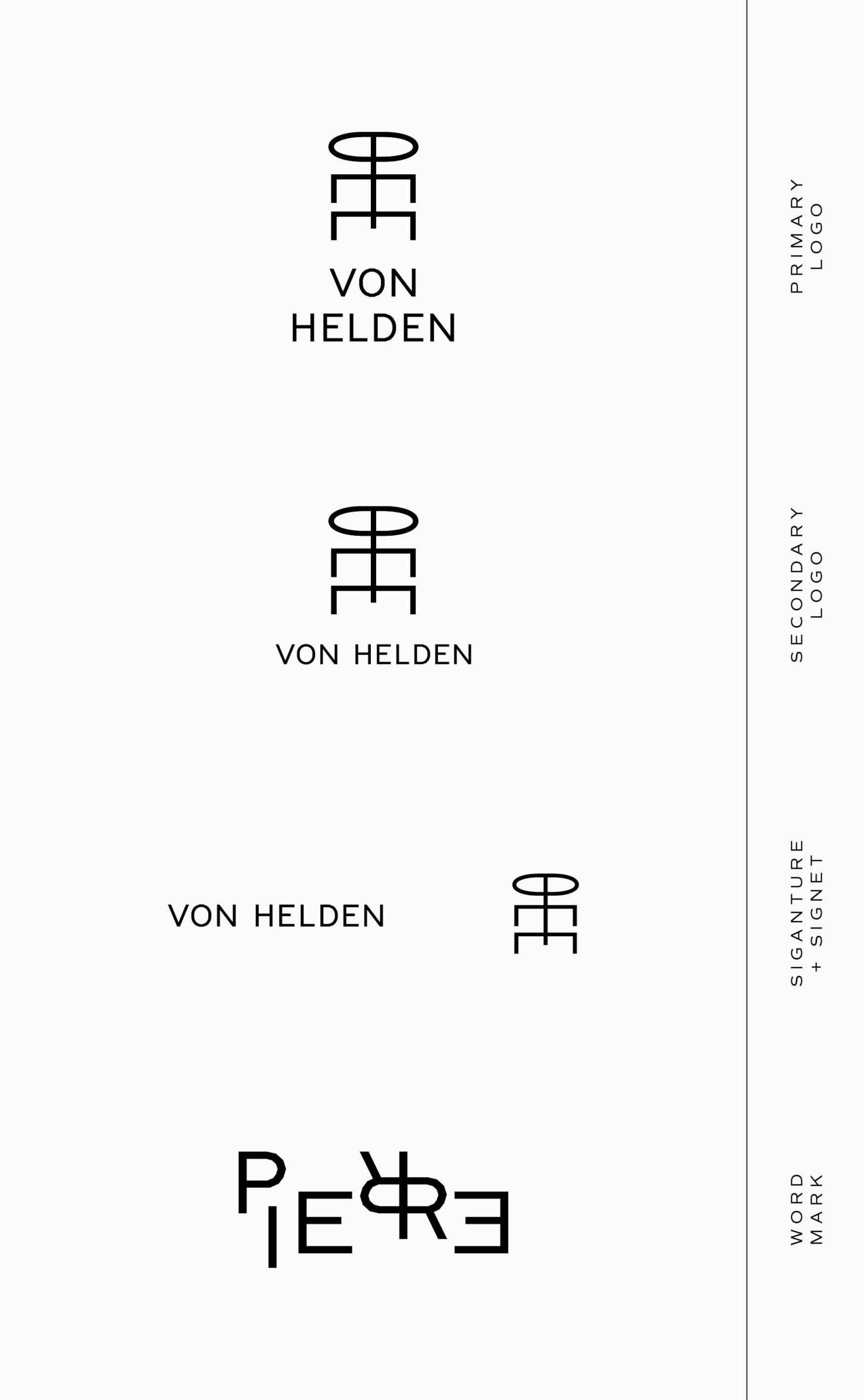 Pierre von Helden Artist Brand Identity – Logo Suite