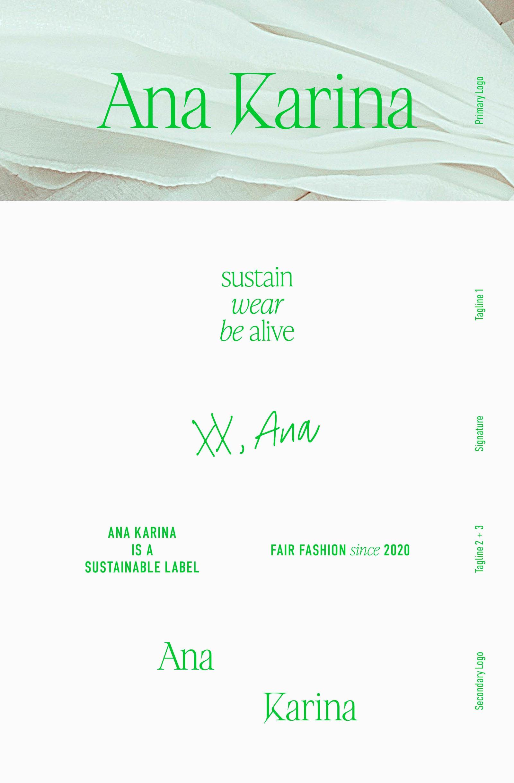 Ana Karina Sustainable Fashion Brand Kit – Logo Suite