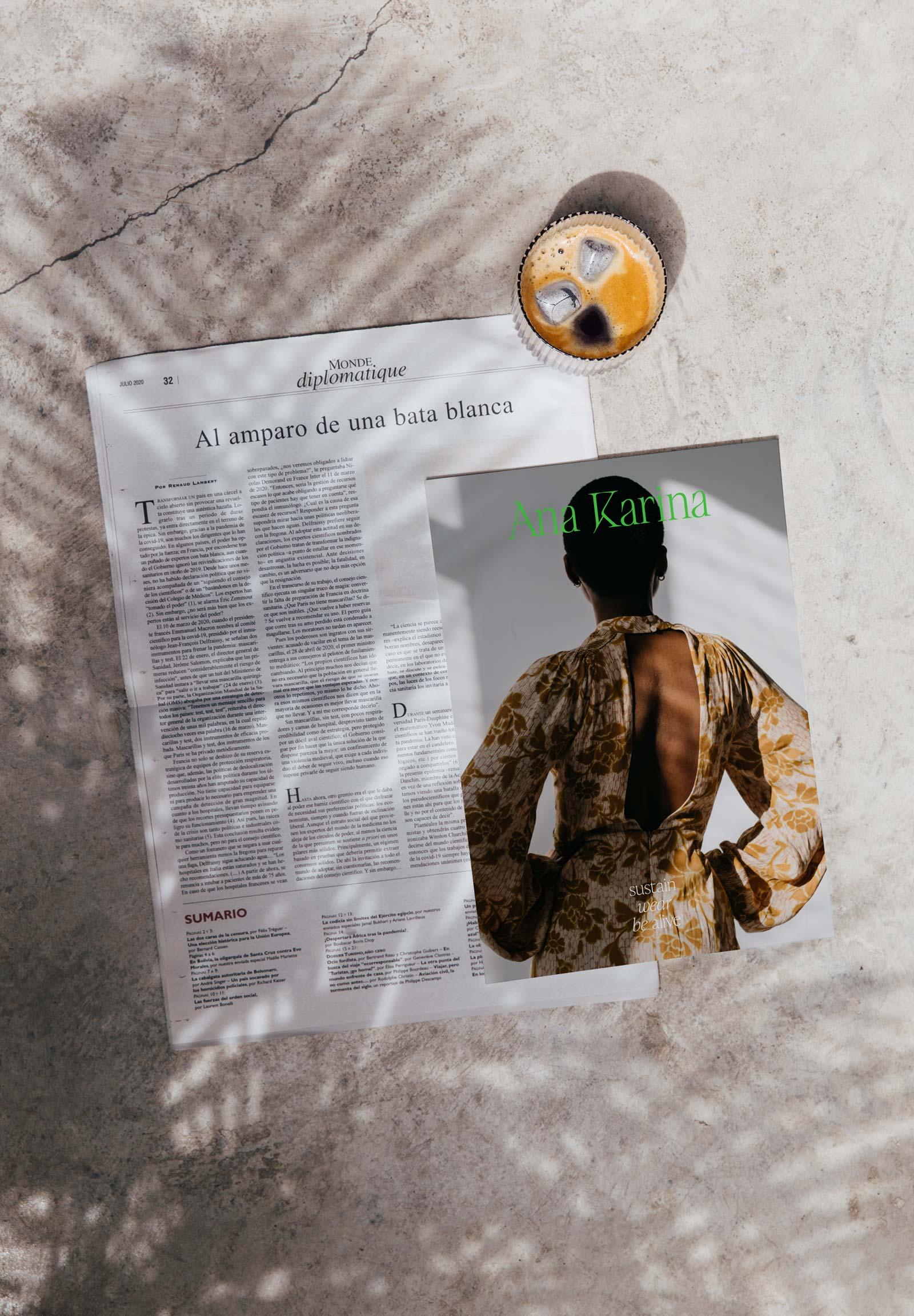 Ana Karina Sustainable Fashion Brand Kit – Magazine Layout