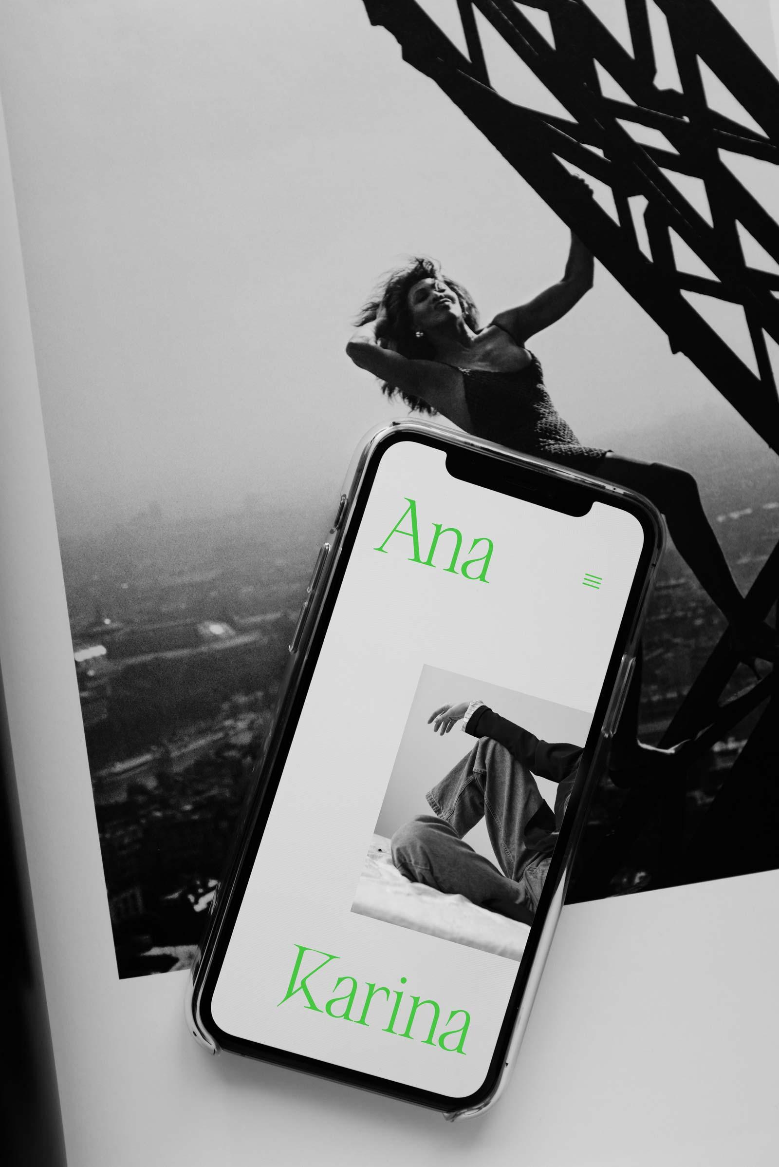 Ana Karina Sustainable Fashion Brand Kit – Web Design