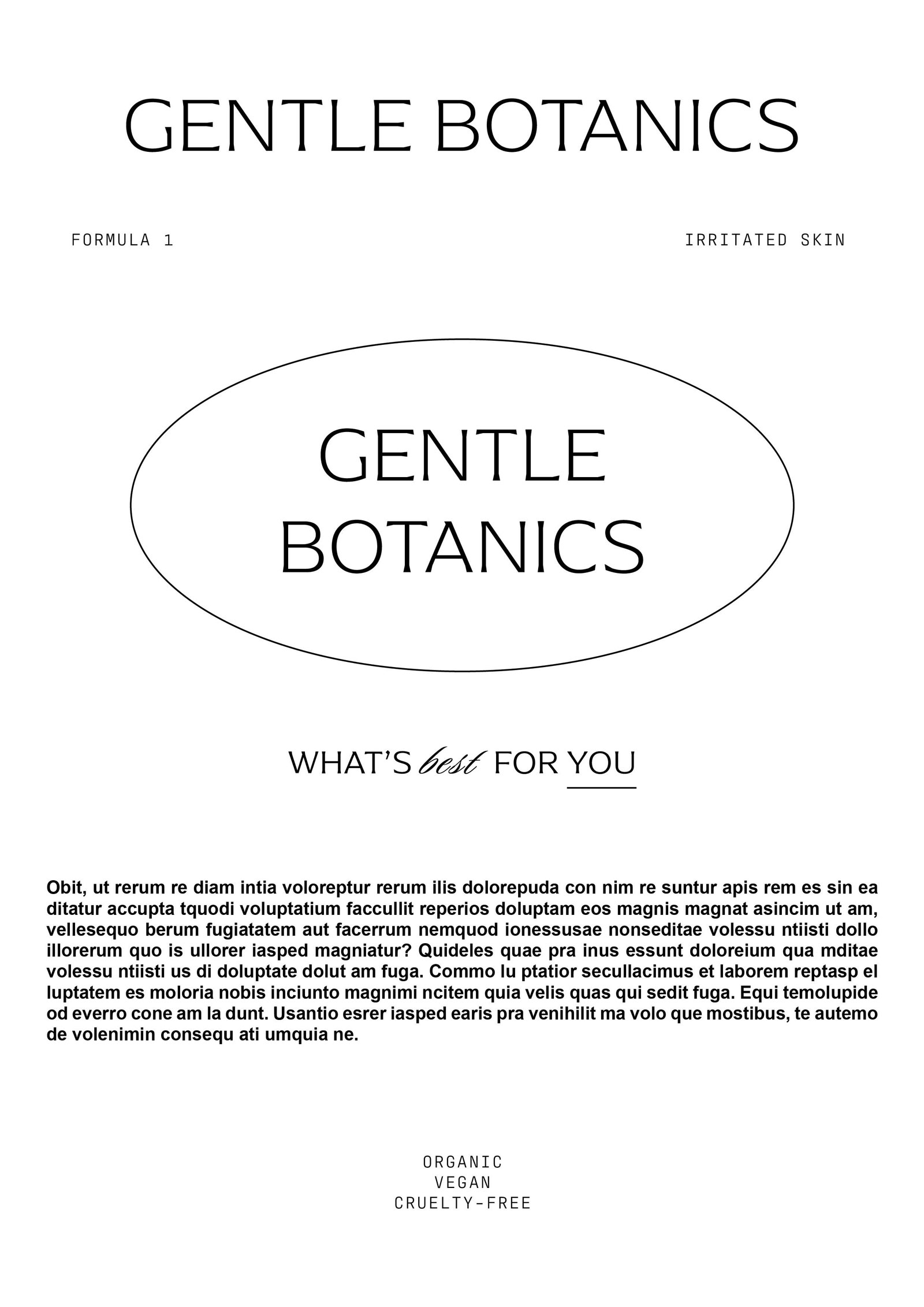 Gentle Botanics Skincare Brand Kit