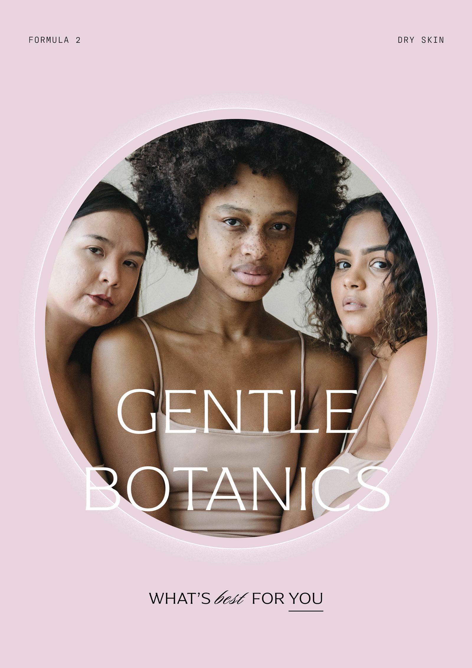 Gentle Botanics Skincare Brand Kit – Advert / Werbeanzeige