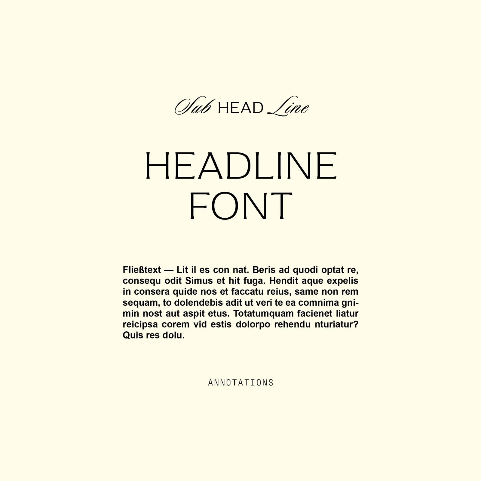 Gentle Botanics Skincare Brand Kit – Schriftauswahl / Font Selection