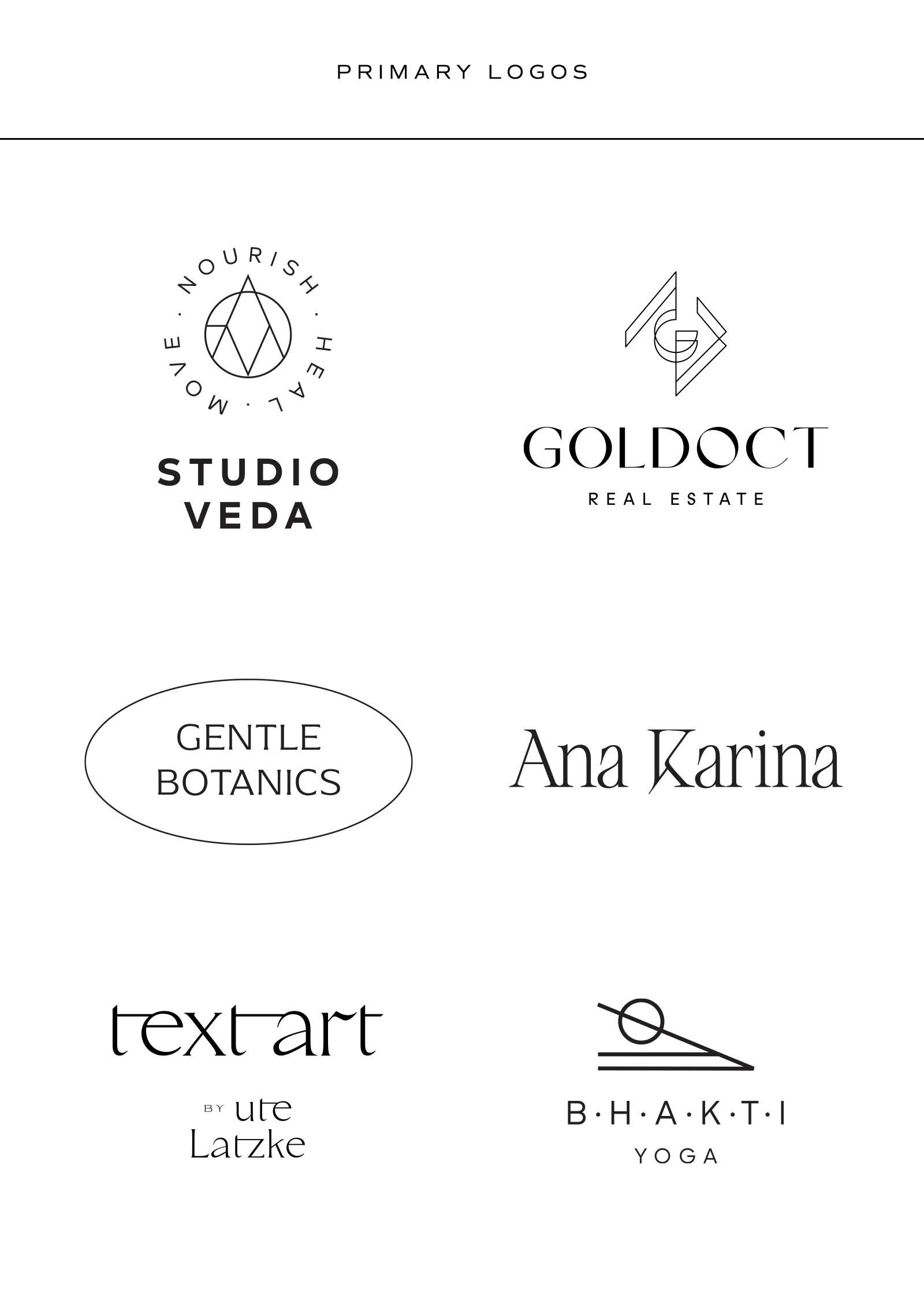 Was ist eine Logo Suite? Primary Logo Beispiele