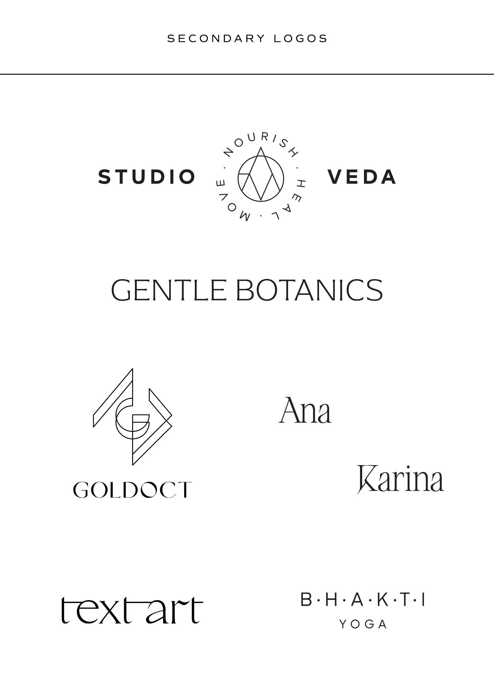 Was ist eine Logo Suite? Secondary Logo Beispiele