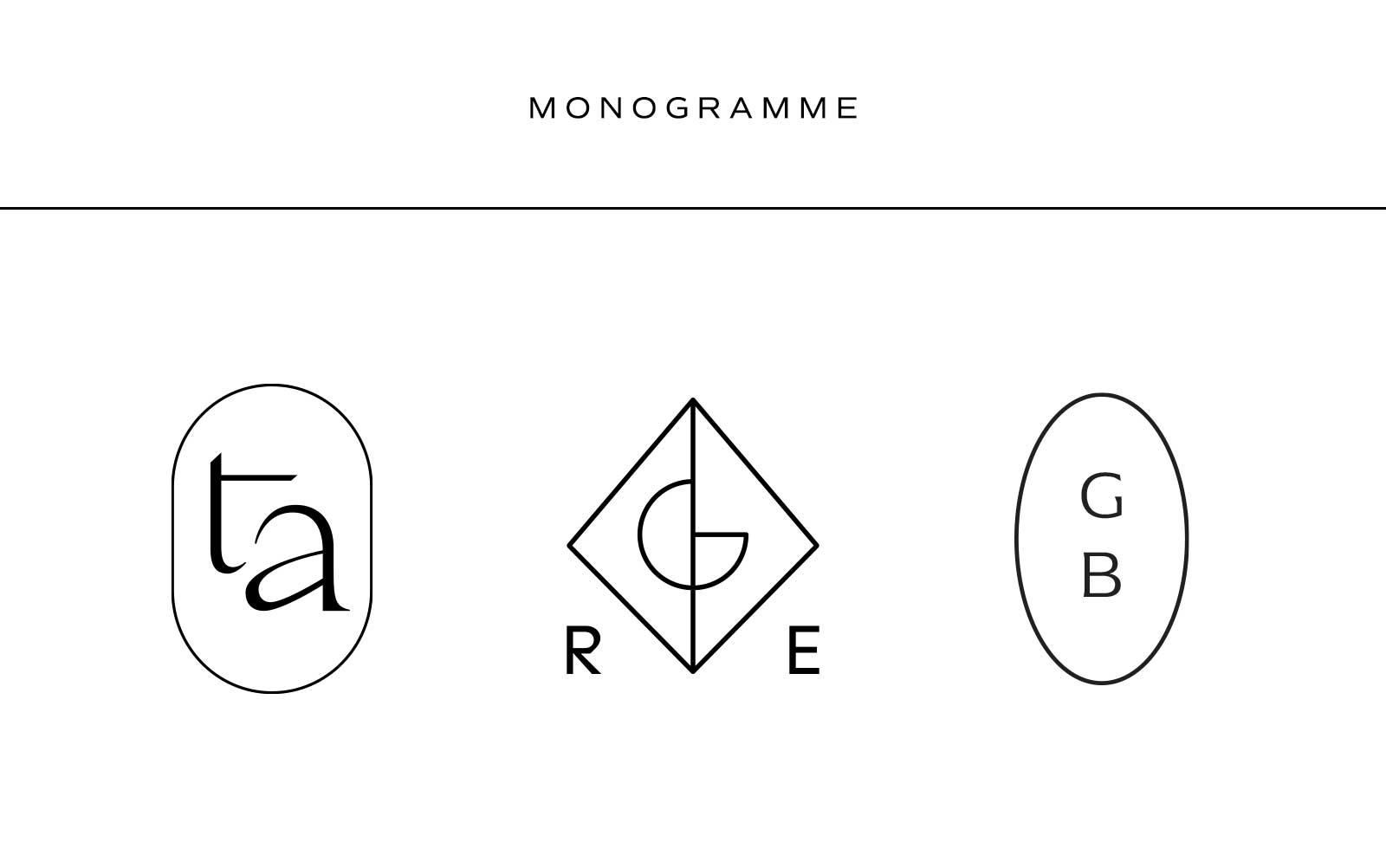 Was ist eine Logo Suite? Monogramm Beispiele