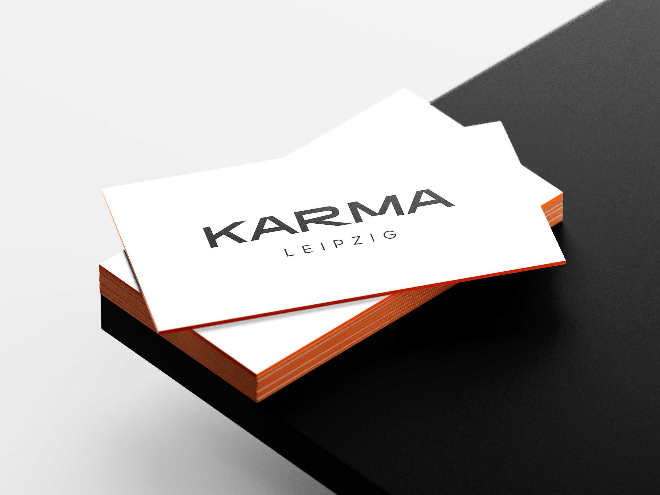 Karma Leipzig Visitenkarte Print Front