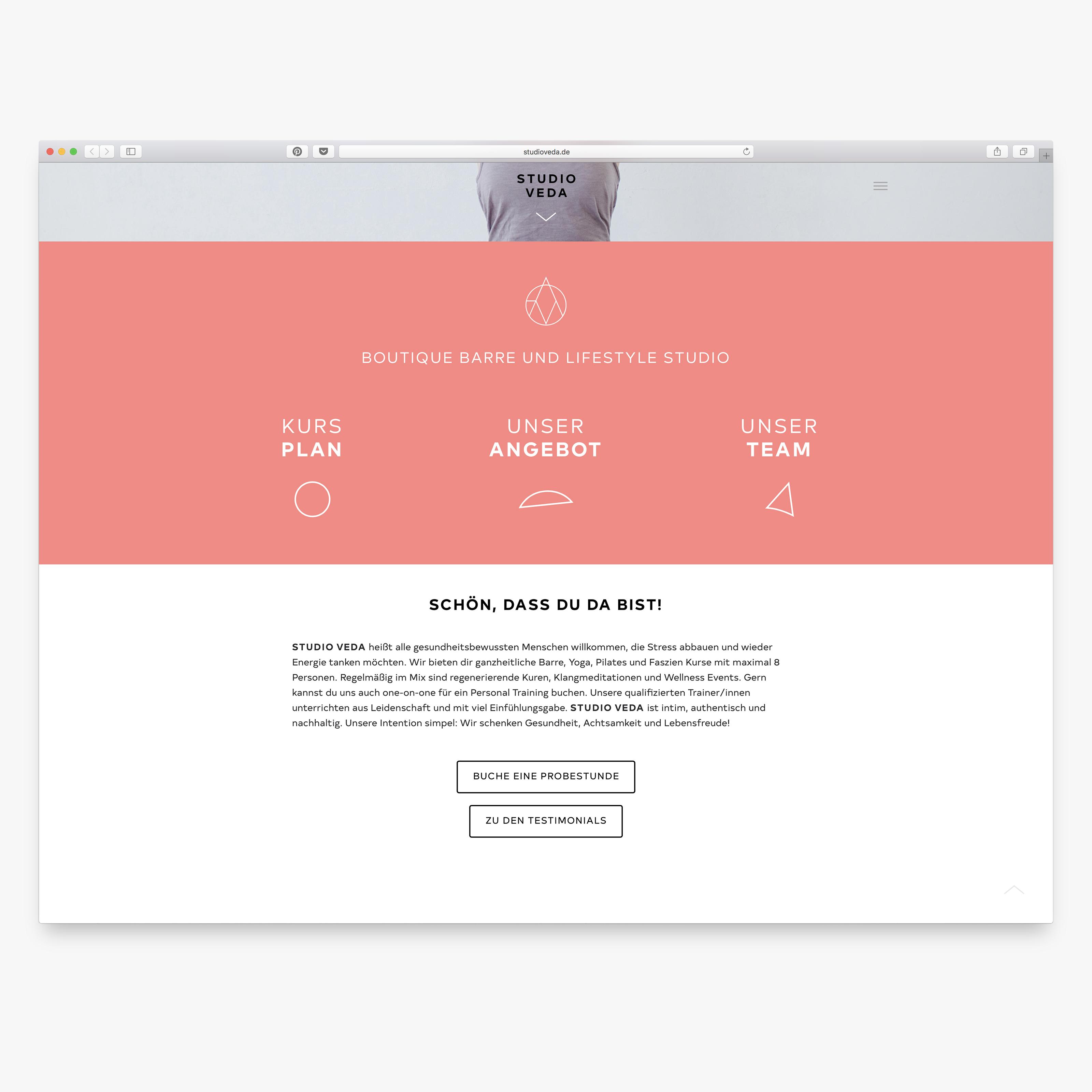 studio veda website
